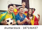 multinational football... | Shutterstock . vector #187146437