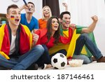 group of multinational people... | Shutterstock . vector #187146461