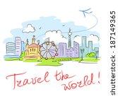 card travel the world. vector... | Shutterstock .eps vector #187149365