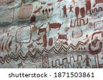 Detail Of The Paintings On A...