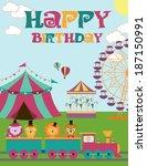 circus birthday  | Shutterstock .eps vector #187150991