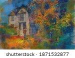 Autumn Illustration With A Man...