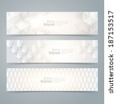 collection banner design  white ... | Shutterstock .eps vector #187153517