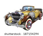 vintage car   Shutterstock .eps vector #187154294