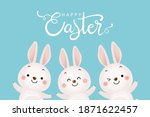 happy easter greeting card with ...   Shutterstock .eps vector #1871622457