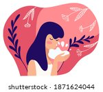 skin care and treatment for... | Shutterstock .eps vector #1871624044