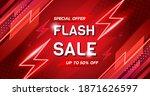 vector template flash sale... | Shutterstock .eps vector #1871626597
