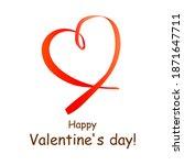 happy valentine's day  card... | Shutterstock . vector #1871647711