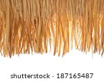 Closeup Of Thatch Roof Isolated ...