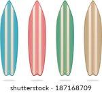 vector colorful wooden... | Shutterstock .eps vector #187168709