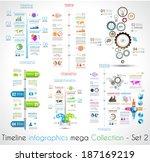 timeline infographic design... | Shutterstock .eps vector #187169219