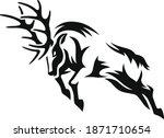 illustration of male deer... | Shutterstock .eps vector #1871710654