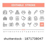 party 20 line icons. vector... | Shutterstock .eps vector #1871738047