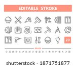 construction 20 line icons.... | Shutterstock .eps vector #1871751877
