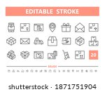 package delivery 20 line icons. ... | Shutterstock .eps vector #1871751904