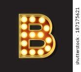 marquee light letter   vector   ... | Shutterstock .eps vector #187175621