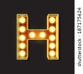 marquee light letter   vector   ... | Shutterstock .eps vector #187175624