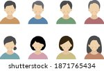 a set of simple icons for... | Shutterstock .eps vector #1871765434