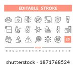 disinfection 20 line icons....   Shutterstock .eps vector #1871768524