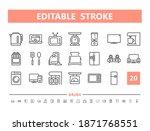 household appliances 20 line...   Shutterstock .eps vector #1871768551