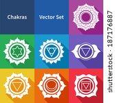chakras. vector set. | Shutterstock .eps vector #187176887