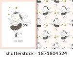 cute little baby cat ballerina... | Shutterstock .eps vector #1871804524