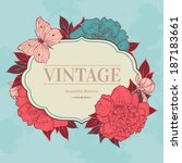 Vector Vintage Background With...