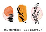 watercolor minimalistic shapes  ... | Shutterstock .eps vector #1871839627