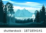 mountain landscape. view of the ... | Shutterstock .eps vector #1871854141