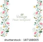 retro flower background concept....