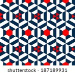 seamless vector geometric strip ... | Shutterstock .eps vector #187189931