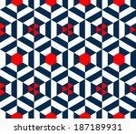 seamless vector geometric strip ... | Shutterstock .eps vector #187189931
