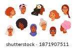 portraits of beautiful women of ... | Shutterstock .eps vector #1871907511