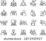 teachers and students icon... | Shutterstock .eps vector #1871935927