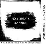 hand drawn sketchnote banner... | Shutterstock .eps vector #187195427