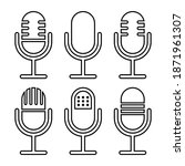 microphone icon set.outline... | Shutterstock .eps vector #1871961307
