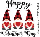 happy valentine's day vector... | Shutterstock .eps vector #1871966434