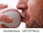 Athlete Kisses A Baseball For...