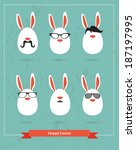 Happy Hipster Easter   Set Of...
