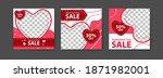 social media post templates for ... | Shutterstock .eps vector #1871982001
