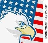 flag america | Shutterstock .eps vector #187198739