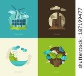 set of vector flat design... | Shutterstock .eps vector #187199477