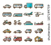 vehicles | Shutterstock .eps vector #187199759