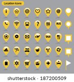 location icons _ yellow | Shutterstock .eps vector #187200509