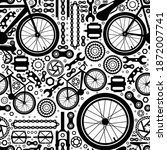 bicycle parts. seamless pattern ... | Shutterstock .eps vector #1872007741