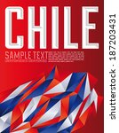 Chile - Vector geometric background - modern flag concept - Chilean colors