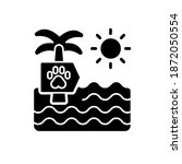 pet beach black glyph icon.... | Shutterstock .eps vector #1872050554