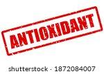 red grunge stamp antioxidant... | Shutterstock .eps vector #1872084007