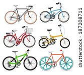 bicycle set. vector... | Shutterstock .eps vector #187208711