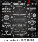 retro elements for summer... | Shutterstock .eps vector #187210781
